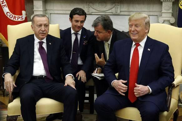 Recep Tayyip Erdogan und Donald Trump am Mittwoch im Weissen Haus.