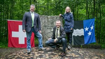 Zu dritt in der Kantonsmitte: Beat Flach (GLP), Bernhard Guhl (BDP) und Lilian Studer (EVP).