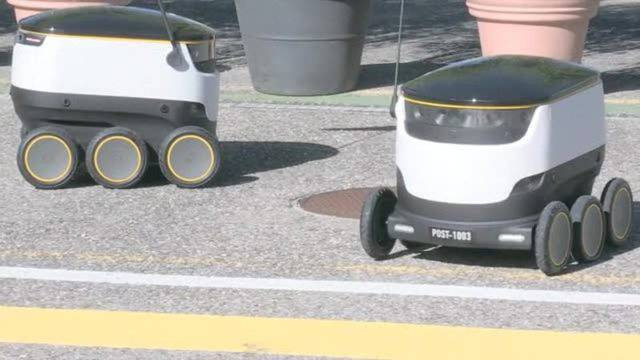 Sechs Räder, neun Kameras: Post testet Lieferroboter