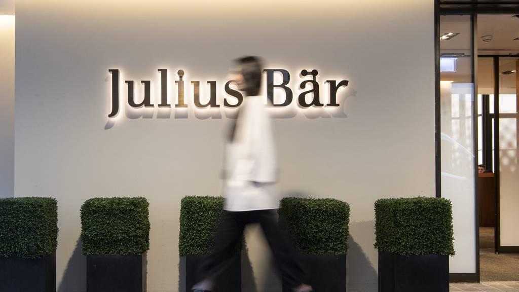 Julius Bär trotzt Corona und erzielt im ersten Halbjahr einen Rekordgewinn