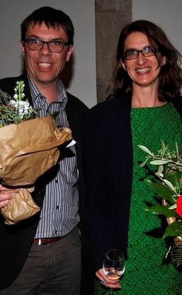 Pascal Frei und Bettina Spörri, der Vereins-Präsident und die Leiterin der Literaturtage.