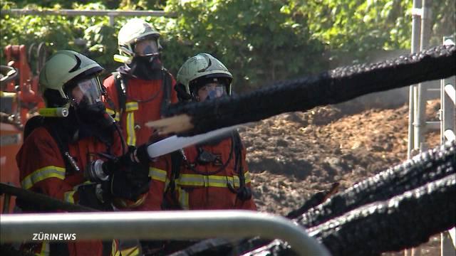 Feuerwehrmänner bei Löscharbeiten verletzt