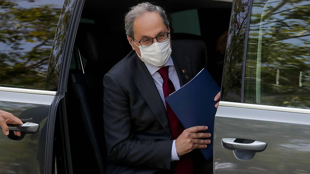 Der separatistisch katalanischen Regionalchef, Quim Torra, wird seines Amtes enthoben. Foto: Manu Fernandez/AP/dpa
