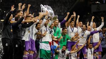 So sehen Sieger aus: Real Madrid kommt im Champions-League-Final gegen Juventus zu einem verdienten 4:1-Sieg. Keystone