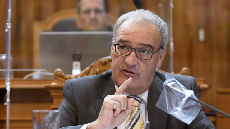Wirtschaftsminister Guy Parmelin lud am Donnerstag zu einem Runden Tisch mit den Wirtschaftsvertretern.