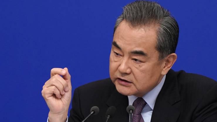 """""""Niemand sollte die Latte anfangs zu hoch setzen"""": Chinas Aussenminister Wang Yi zu den Atomgesprächen zwischen USA und Nordkorea. (Archivbild)"""