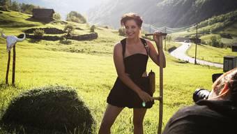Véronique Scholl hat sich vor der Kamera schnell wohlgefühlt – trotz der für sie etwas ungewohnten Garderobe.