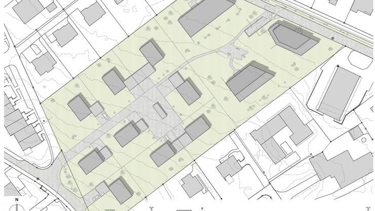 Bebauungskonzept Munters vom Grenchner Architekturbüro Bigolin + Crivelli