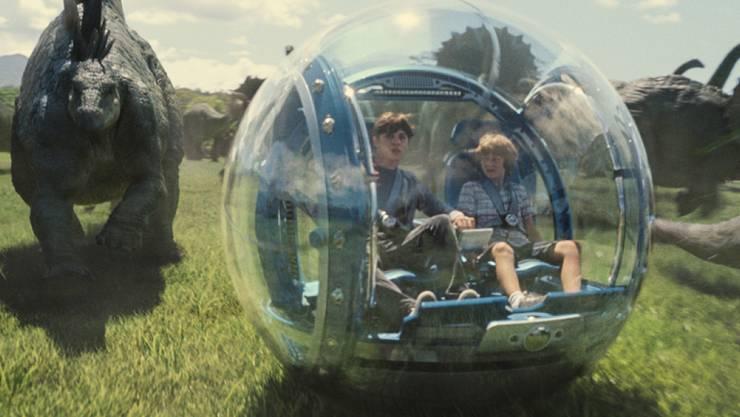 """Szene aus """"Jurassic World,"""" dem weltweit dritterfolgreichsten Film nach """"Avatar"""" und """"Titanic"""" (Handout)"""