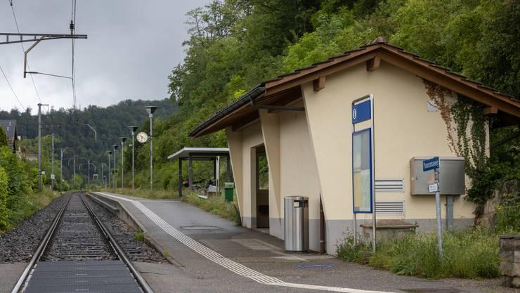 Die Haltestelle Trimbach beim Bahnübergang der Marenstrasse wurde 1960 in Betrieb genommen.