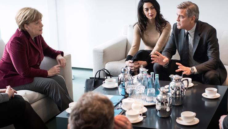 Die Bundeskanzlerin und ihre Gäste diskutierten über die Flüchtlingsproblematik