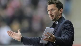 Früher Spieler, vor zwei Jahren Interimstrainer, seit einer Woche Headcoach mit langfristiger Perspektive beim SC Bern: Lars Leuenberger (40).