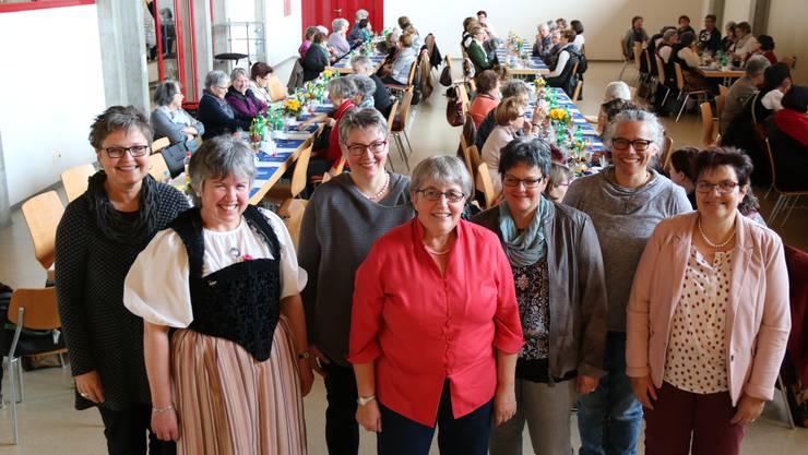 Der Vorstand des Landfrauenvereins Bucheggberg: (v.l.) Susanne Kocher, Theres Pfister, Karin Hofer, Marlise Stuber, Eveline Rätz, Daniela Eggenschwiler und Theres Tschanz.