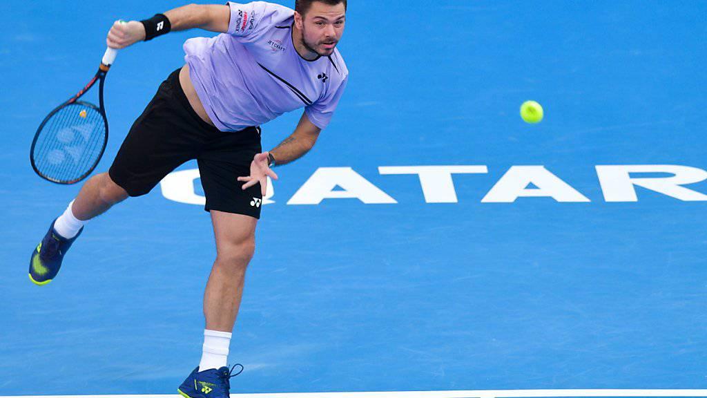 Für Stan Wawrinka ging das Turnier in Doha in den Viertelfinals zu Ende