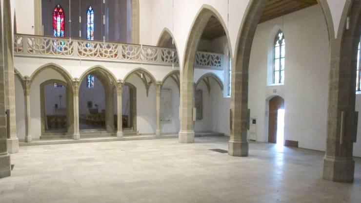 Die Wirkung der leer geräumten Stadtkirche ist eindrücklich.zvg