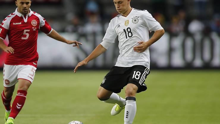 Joshua Kimmich bewahrte mit seinem Ausgleich kurz vor Schluss Deutschland vor einer Niederlage im Testspiel in Dänemark