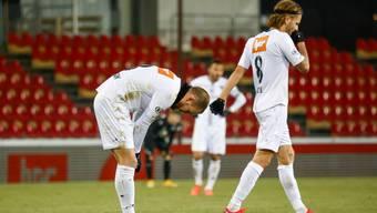 Eine Seltenheit: FCA-Routinier Olivier Jäckle zeigte gegen Grasshoppers keine gute Partie.