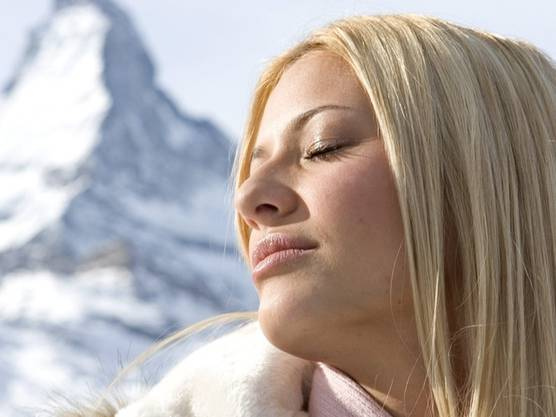 Vor winterlicher Kulisse: Ex-Miss-Schweiz Christa Rigozzi (Archiv)