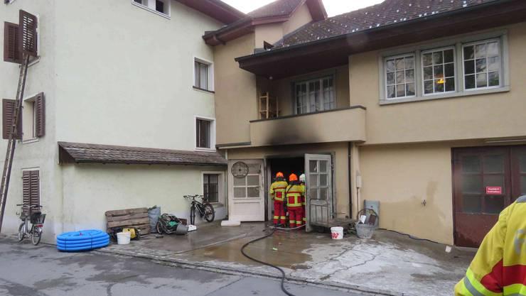 In dieser privaten Werkstatt brach der Brand aus.