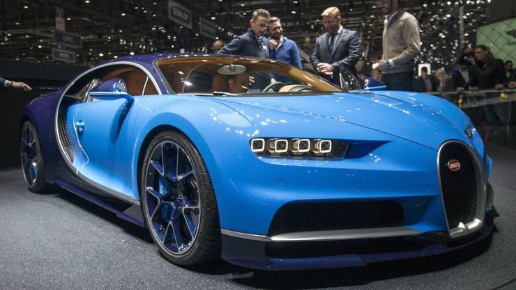 Diesen Boliden wollen alle sehen: Den Bugatti Chiron - er ist unglaublich schnell.
