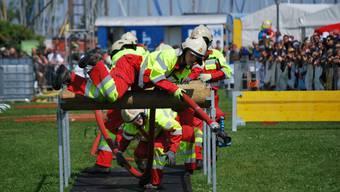 Wie hier an der Schweizer Meisterschaft 2014 will die Jugendfeuerwehr Sarmenstorf alles geben – diesmal ist das Ziel aber klar ein Sieg.