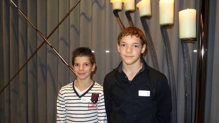 Luca Murabito und Noe Seifert wurden durch die Oftringer Gemeinde geehrt