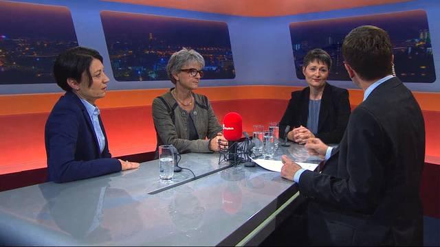 Links, Mitte oder rechts? Und wo stehen die drei Kandidatinnen bei Fragen im Asyl- und Gesundheitswesen? Die interessantesten Aussagen im Konzentrat aus 20 Minuten Talk.