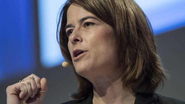 FDP-Parteipräsidentin Petra Gössi schliesst eine Einerkandidatur für die Nachfolge von Bundesrat Didier Burkhalter aus. (Archivbild)