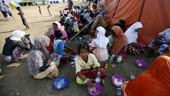 Die meisten Rohingya sind staatenlos - hier ein Flüchtlingslager in Indonesien