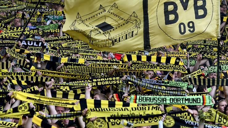 Ein absoluter Zuschauermagnet: die deutsche Bundesliga (im Bild Fans von Borussia Dortmund)