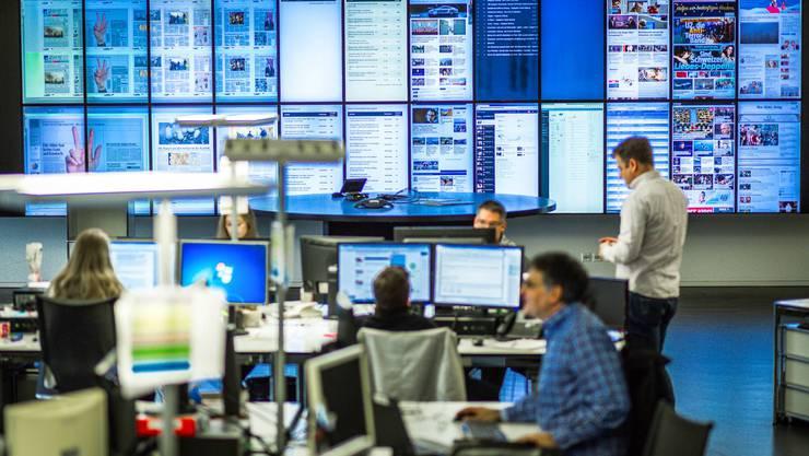 Der Newsroom der AZ Medien in Aarau.