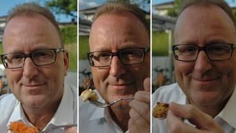 Mimik des Aarauer Polizeichefs und Hobbykocher Daniel Ringier