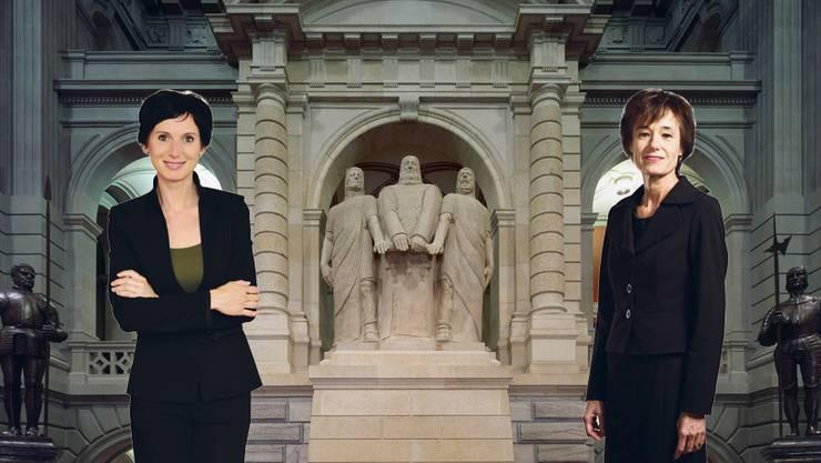 Warum Politikerinnen im Bundeshaus den Ton angeben. (Fotomontage)