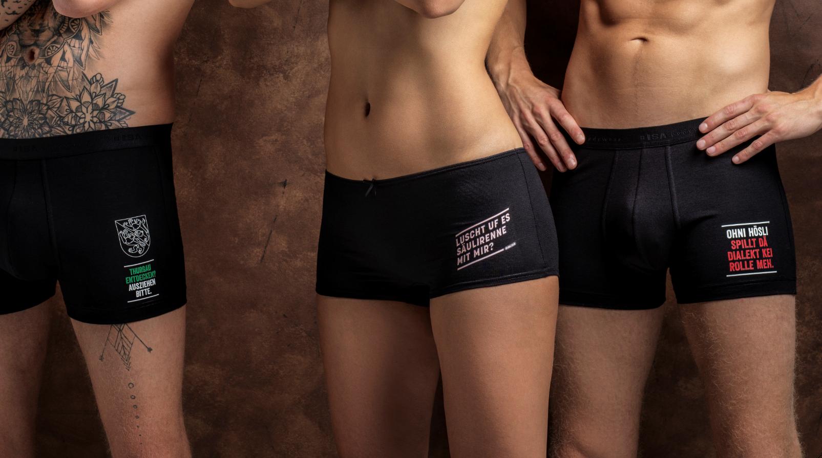 Das sind die Sujets der diesjährigen Olma-Unterhosen-Kollektion. (Bild: zVg)