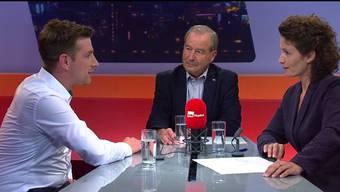 Der Vorstand der SVP Aargau will keine Sesselkleber mehr und eine Alters- und Amtszeitbeschränkung für Nationalräte einführen. SVP-Nationalrat Maximilian Reimann ist dagegen – Grünen-Präsident Daniel Hölzle dagegen findet die Beschränkung gut.