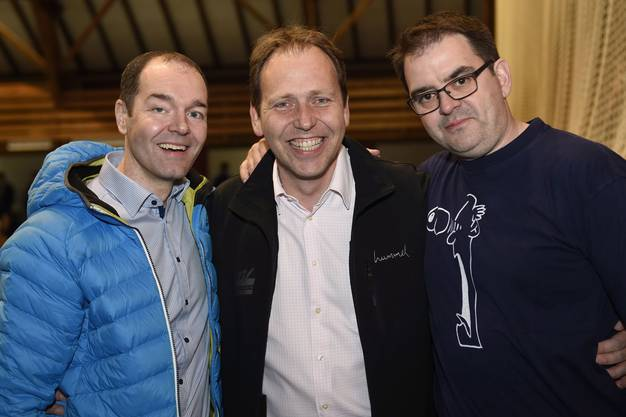 Das Torhüter-Trio von damals Patrick Schneider, Christian Villiger und Jean-Marc Fazan (v. l.).