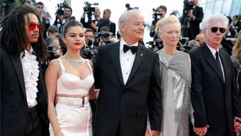Prominente Eröffnungsgäste in Cannes: (v.l.n.r) Luka Sabbat, Selena Gomez, Bill Murray, Tilda Swinton und US-Regisseur Jim Jarmusch.