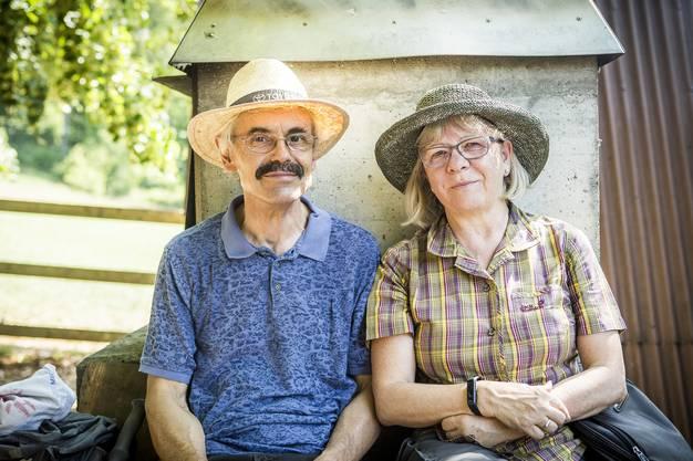 Susanne und Max Metzger-Müller aus Küttigen AG tragen im Sommer fast immer Hüte: «Sogar, wenn wir nur rasch raus gehen. Wir haben Respekt vor der Sonne.»