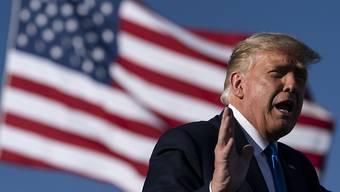 US-Präsident Donald Trump spricht bei einer Wahlkampfkundgebung auf dem Flughafen von Carson City im US-Bundesstaat Nevada. Foto: Alex Brandon/AP/dpa