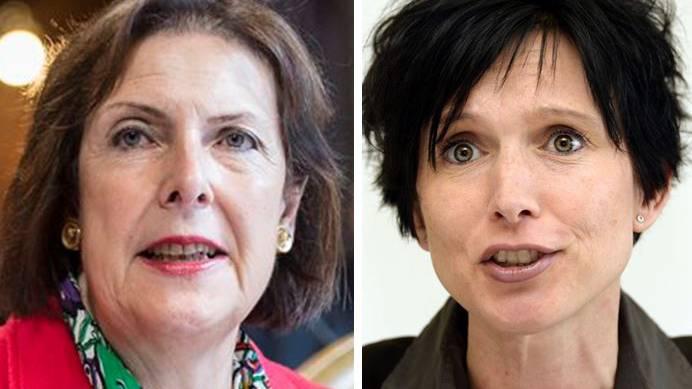 Die abtretende FDP-Ständerätin Christine Egerszegi (l.) unterstützt im Wahlkampf SP-Kandidatin Pascale Bruderer.
