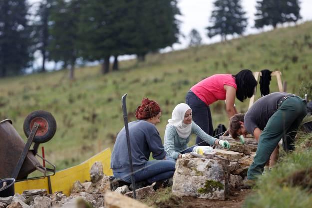 Die Teilnehmer kommen aus Palästina, Israel, Irland und der Schweiz