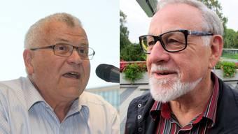 Die beiden ehemaligen Schlieremer Stadträte Jean-Claude Perrin (r.) und Robert Welti treffen sich in der Kirchenpflege wieder.