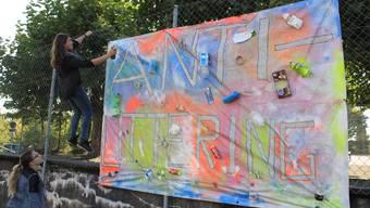 Anti-Littering Aktion von Sekundarschüler in Biberist