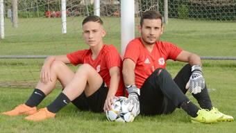 Der Jungspund und der Routinier in den Reihen des SC Zofingen: Marco Schwegler (links) und Alessandro Vodola.