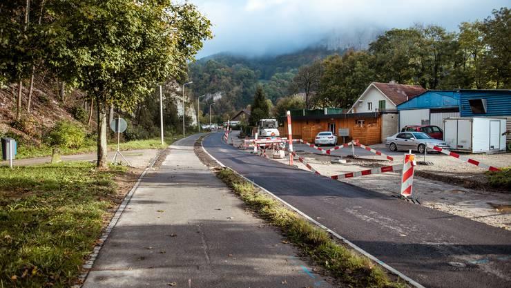 Die Sanierungsarbeiten Lehngasse/Äussere Klus sind bald beendet