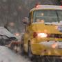 Der Schnee sorgte im Mittelland für einige Unfälle; wie hier im Aargau.