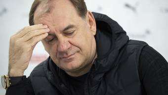 Georgiens Nationalcoach Vladimir Weiss plagen vor dem Spiel gegen die Schweiz Verletzungssorgen