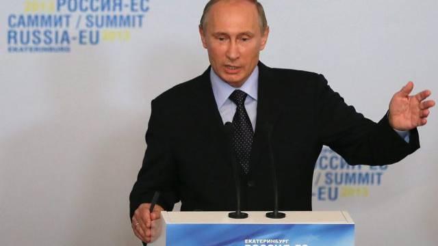 Wladimir Putin beim Treffen mit der EU in Jekaterinburg