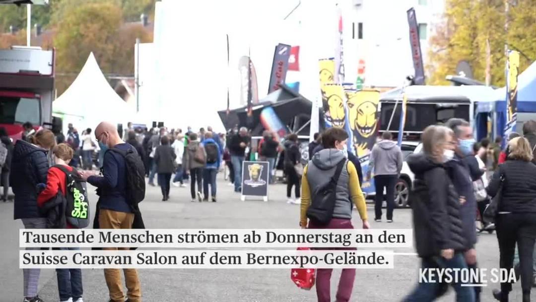 Täglich bis zu 7000 Menschen am Suisse Caravan Salon in Bern