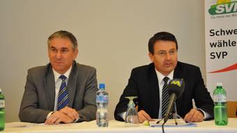 SVP Aargau will mit Thomas Burgherr (r.) den zweiten Regierungsratssitz